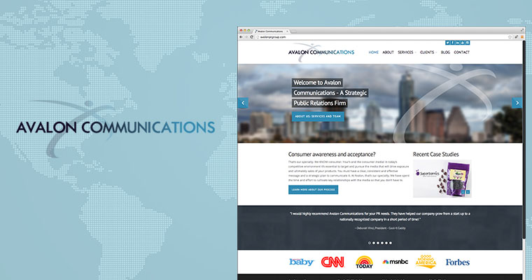 Avalon Communications: Developing an Engaging and Industry-Leading Website