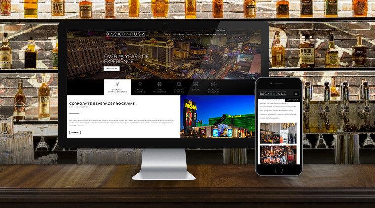 Back Bar USA Website Redesign