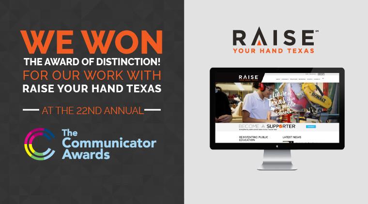 We Won The Award of Distinction!