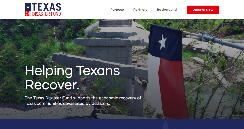 Texas Disaster Fund home page